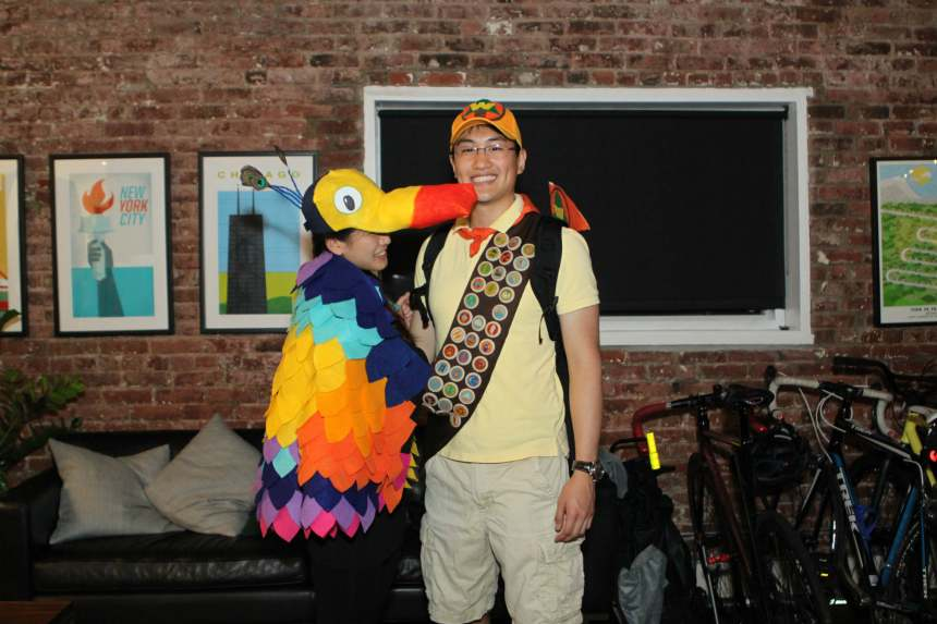 diy kevin and russell from up halloween costume