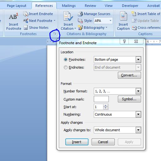Converting Footnotes/Endnotes in Word (2/2)
