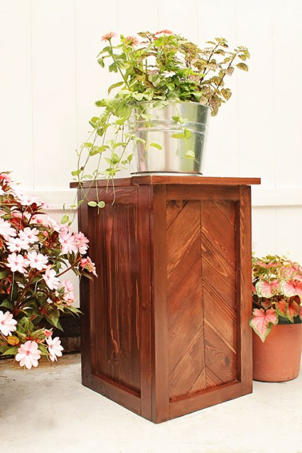 DIY Chevron Planter Stand