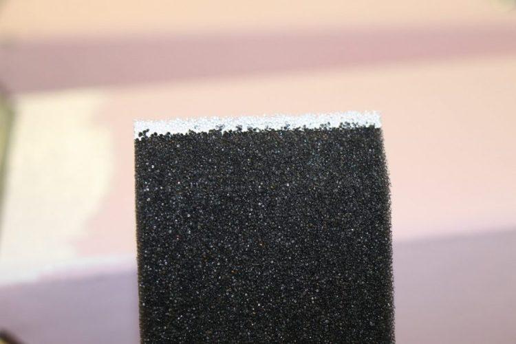 foam brush for painting IKEA magazine holders