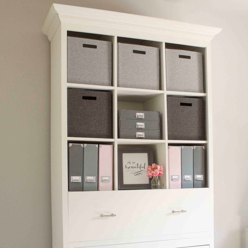 DIY Office Storage Cabinet Bookcase