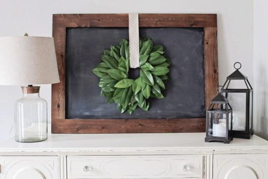 How to make a magnolia wreath DIY