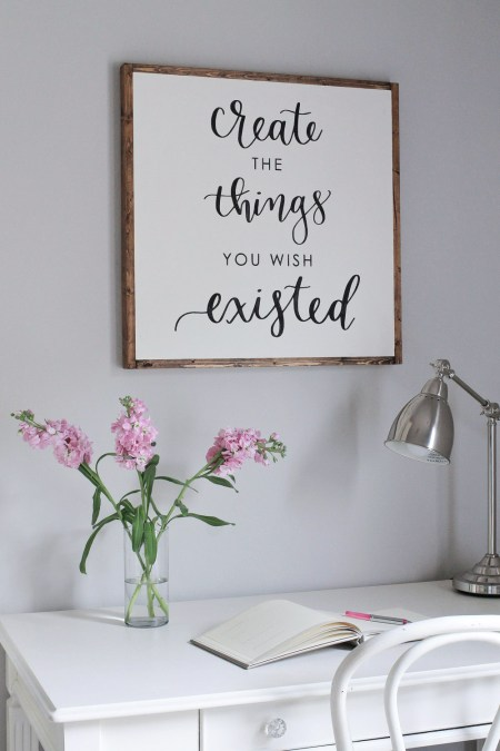 Diy Wood Sign With Calligraphy Quote Angela Marie Made