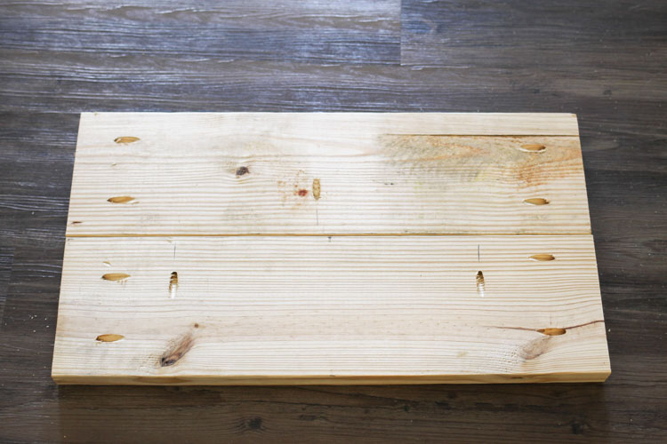 Build top and bottom DIY hall tree bench pieces