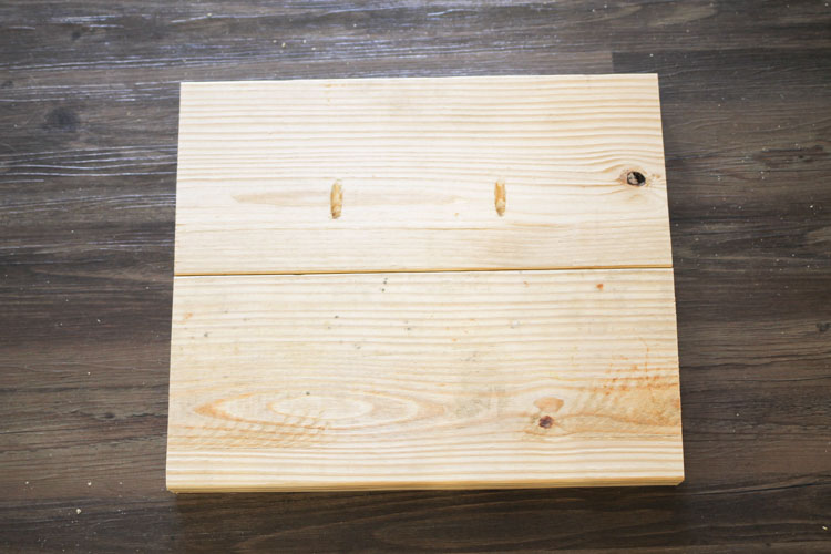 join wood piece with pocket holes together with second wood piece