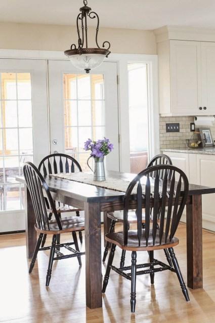 Farmhouse table DIY with removable legs