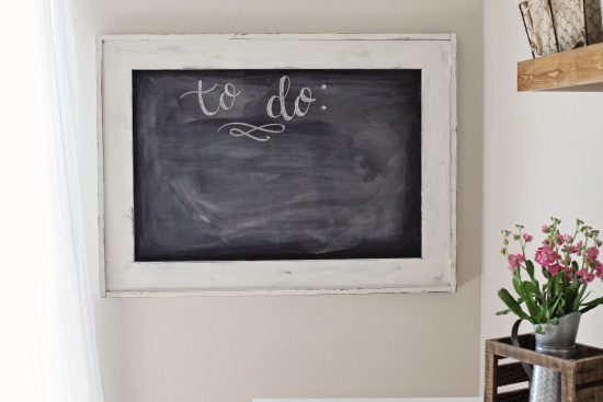 Office Chalkboard Makeover with Milk Paint