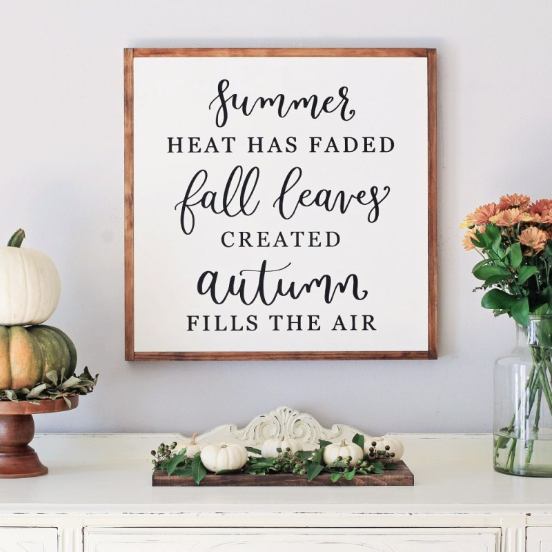 Fall Dining Room Sideboard Decor