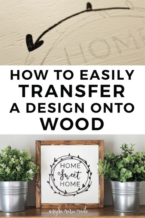 How to transfer a design onto a wood sign with a pencil