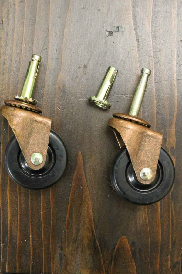 two caster wheels