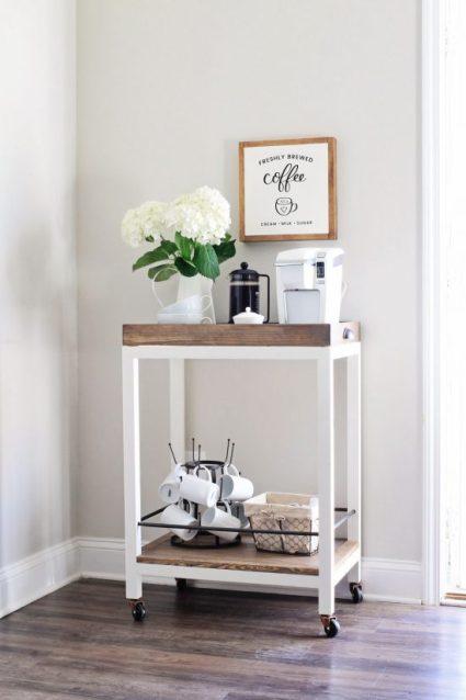 Coffee Bar Cart DIY