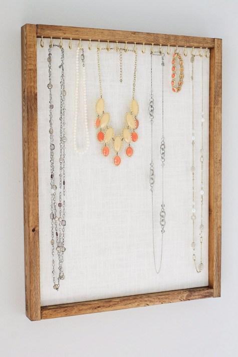 Rustic Jewelry Organizer DIY