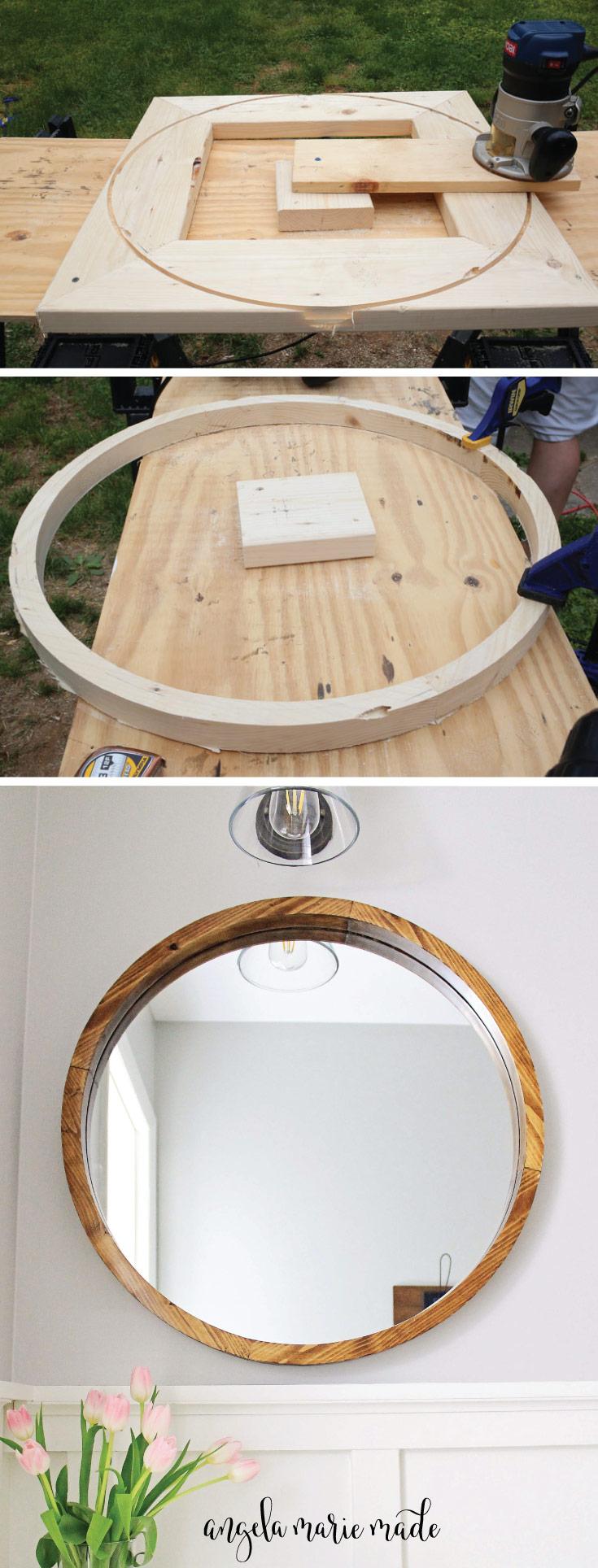 Round Wood Mirror DIY