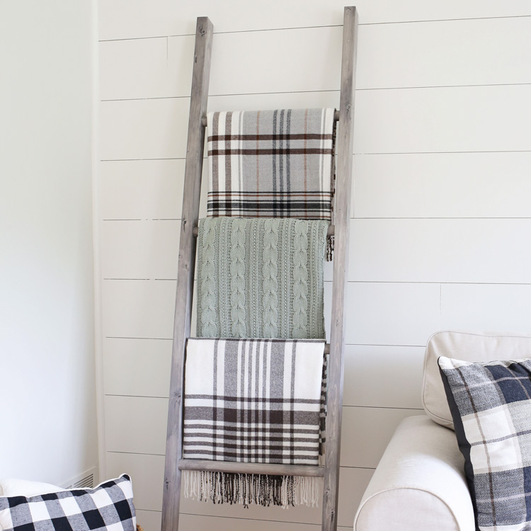 Easy DIY Blanket Ladder