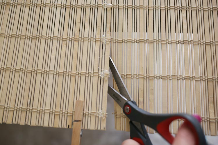 How to Trim Bamboo Blinds to Size