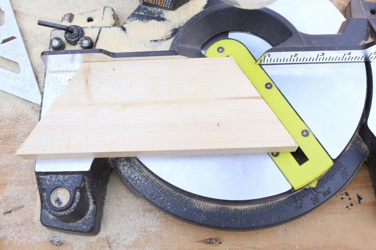 Cut base of Wood Christmas Tree Mason Jar Sconce