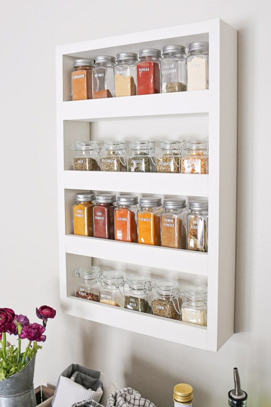 Diy Wall Spice Rack Angela Marie Made