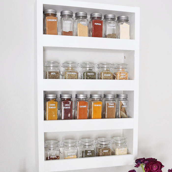 Wall Mounted Wooden Spice Rack Plans: DIY Wall Spice Rack