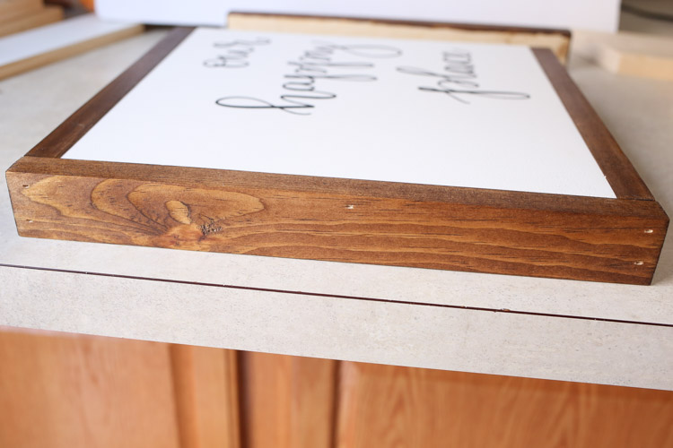 3 Ways How To Frame A Diy Wood Sign Angela Marie Made