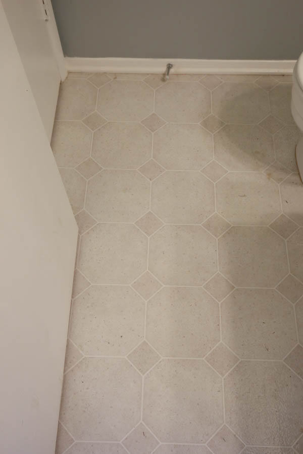 Vinyl Flooring Bathroom Update Angela Marie Made