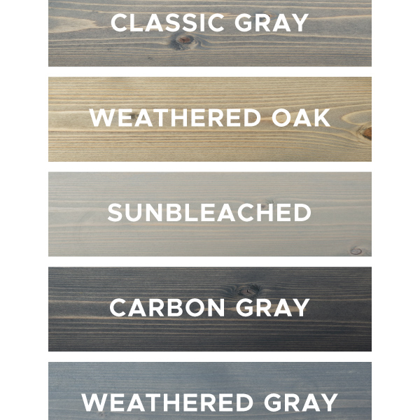 5 Grey Wood Stain Options