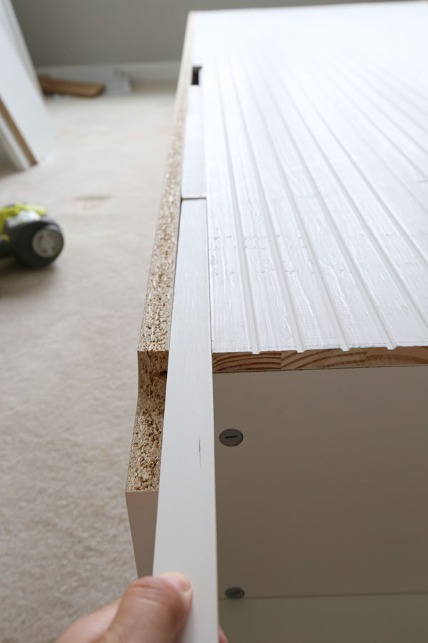 Adding Shiplap boards to IKEA billy bookcase
