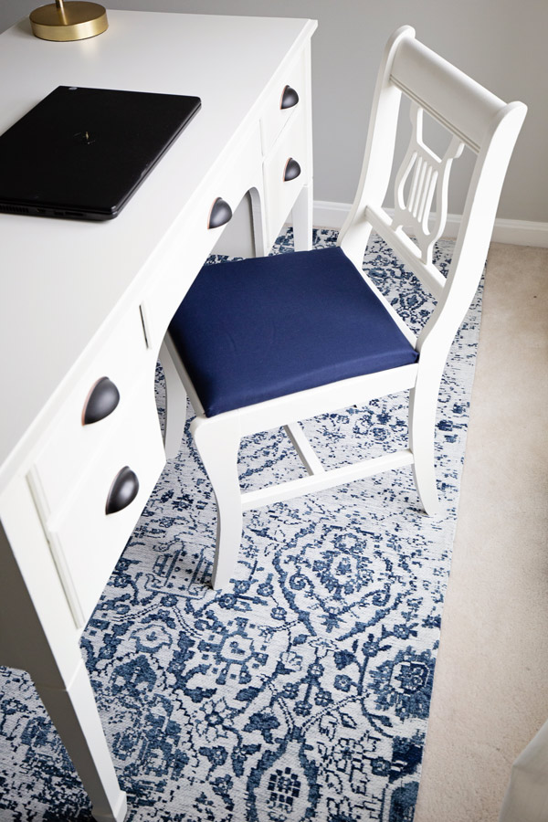White painted chair makeover