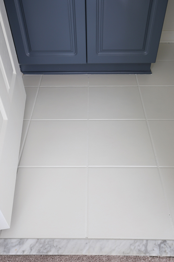 Superieur How To Paint Tile Floor In A Bathroom