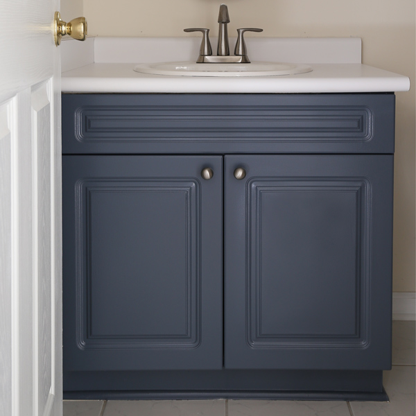 How to paint a bathroom vanity angela marie made - How do you paint bathroom cabinets ...