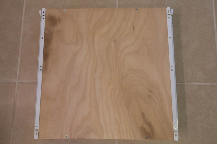 Attaching drawer slides to the bottom of the of DIY drawer box