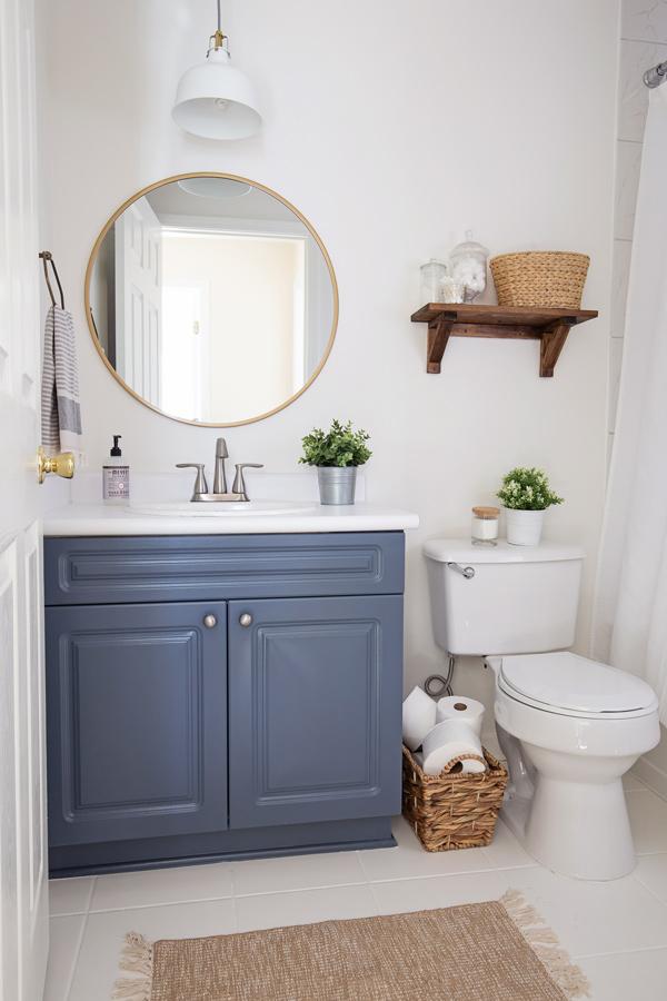 $100 Budget Bathroom Makeover Reveal
