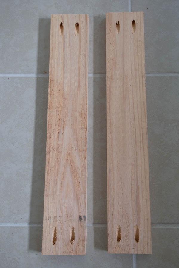 Pocket holes added to shorter wood frame boards
