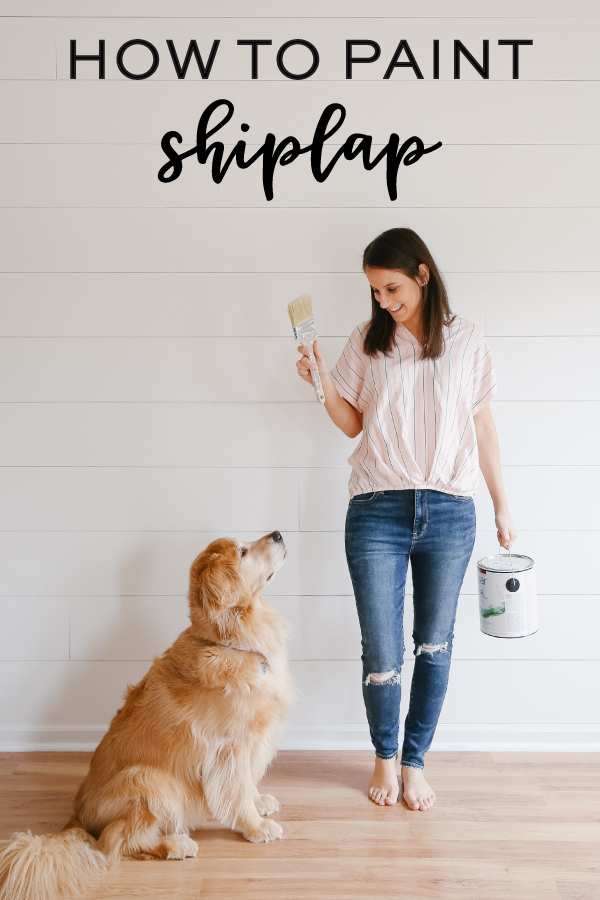 how to paint shiplap walls