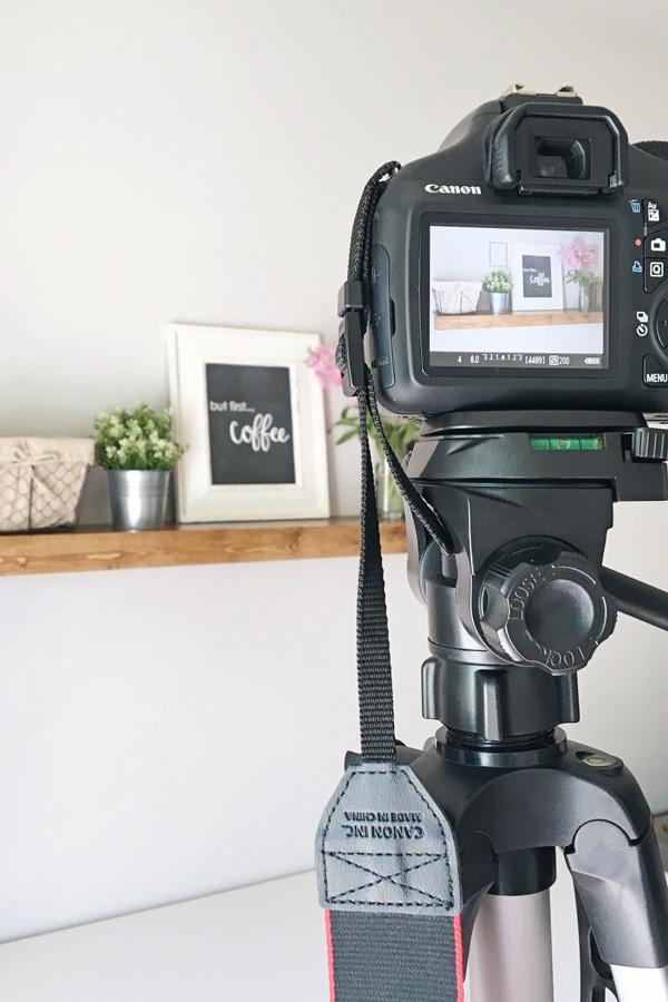 beginner photography gear set up for blog photo shoot