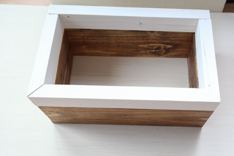 assembling DIY spring planter box