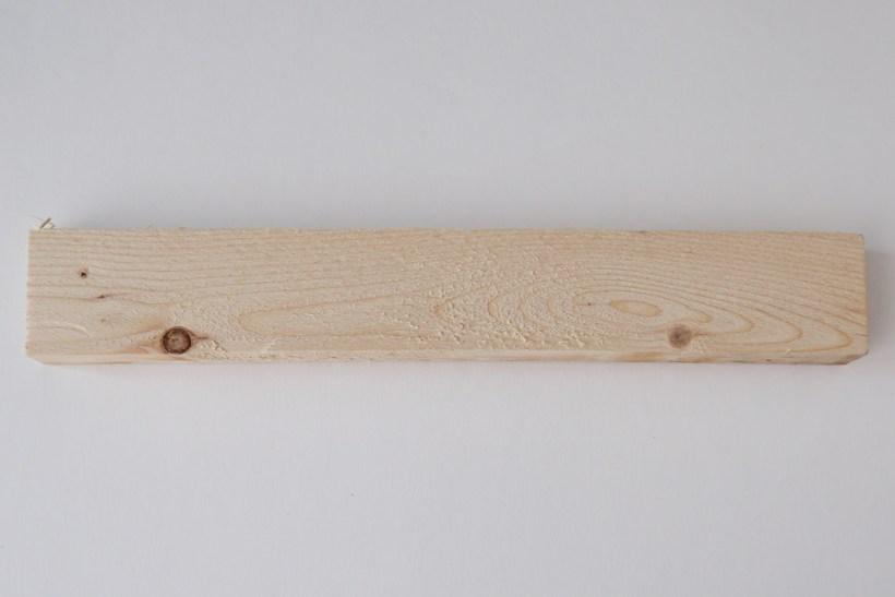 piece of wood before sanding