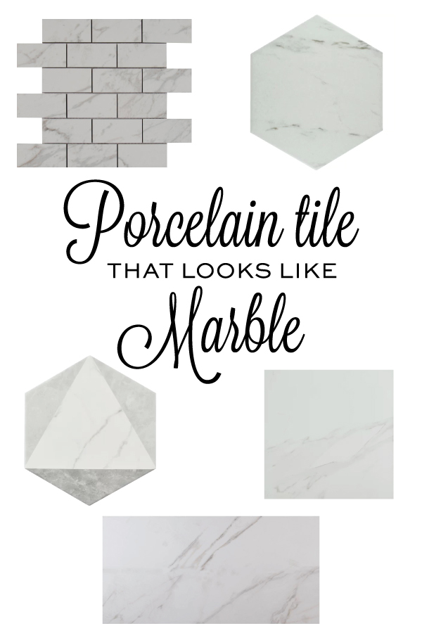 5 porcelain tiles that look like marble
