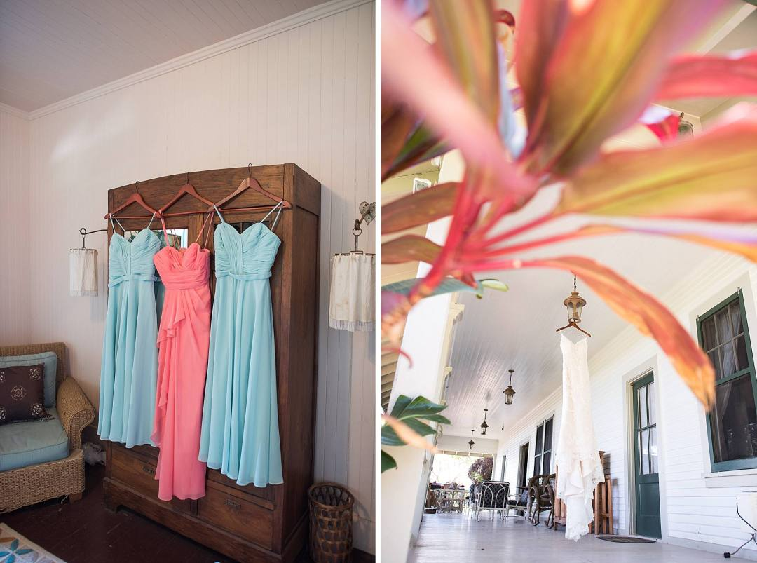 bridesmaids dresses at Olowalu