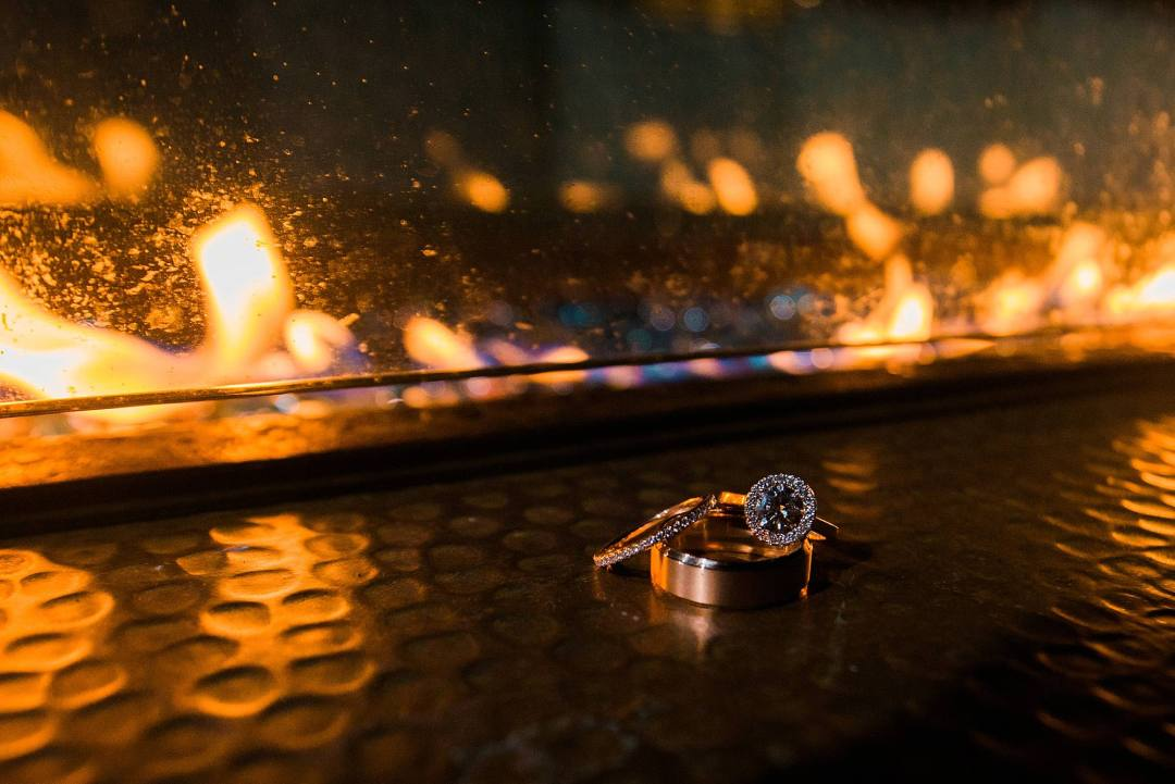photo of rings with fire