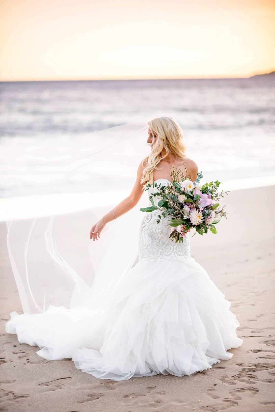 bliss wedding planning bride at sugar beach in maui