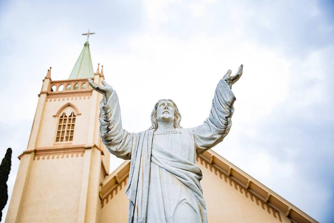 st. joseph church statue in makawao