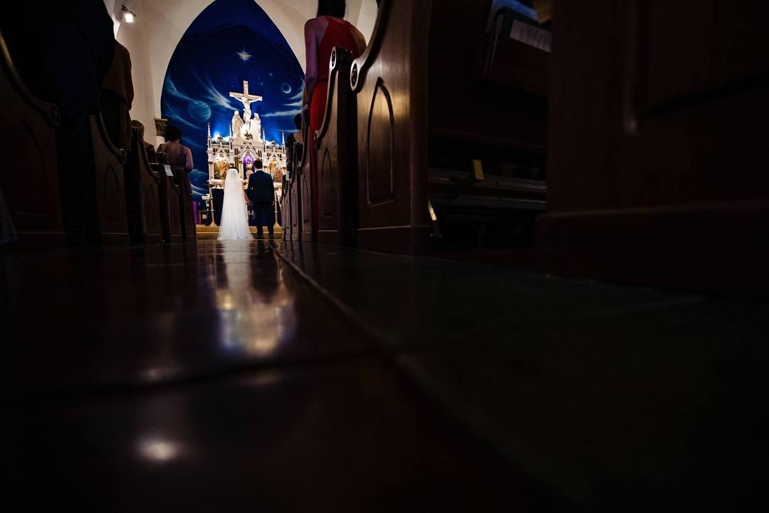 floor relfection at makawao st. joseph church in maui