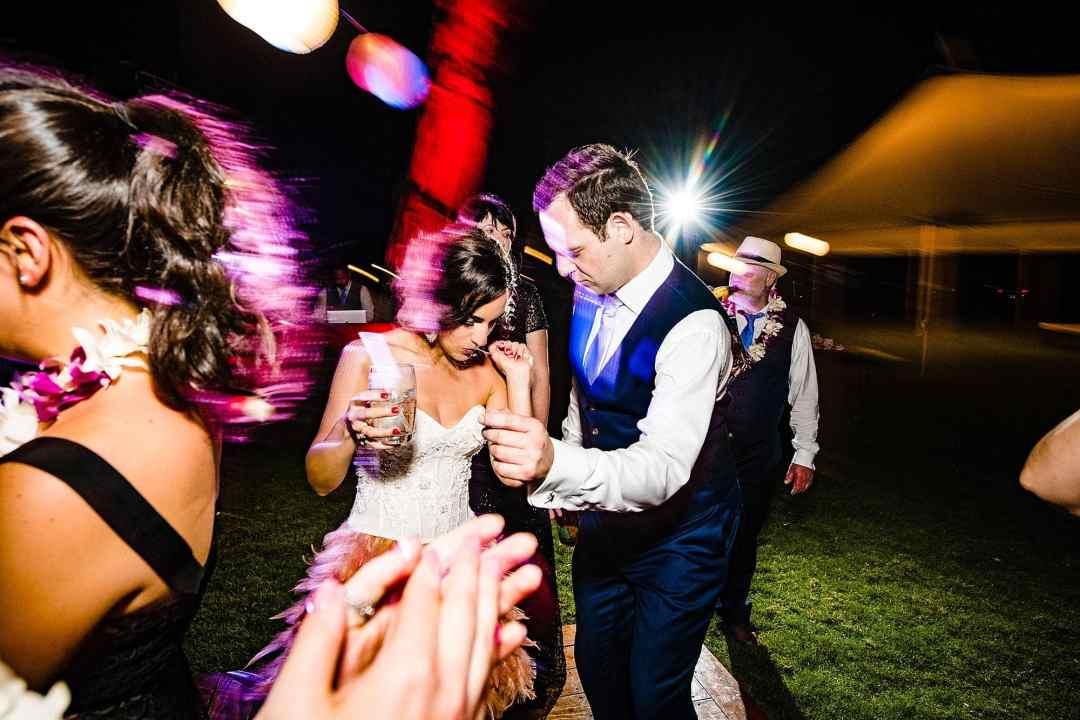 bride and groom dancing at ponomakena sanctuary