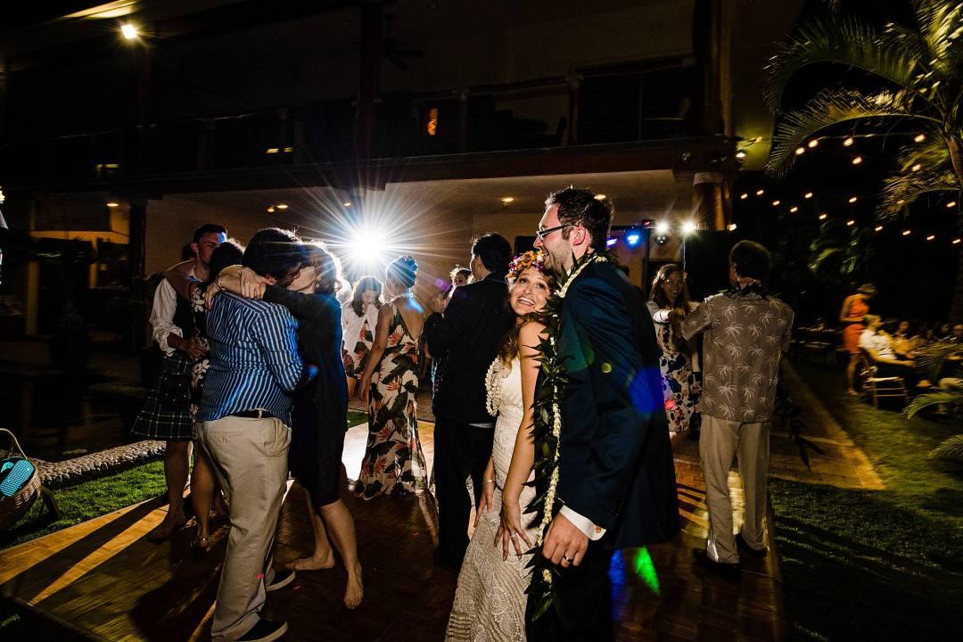 bride and groom reception