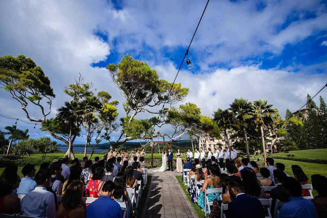 ceremony at Steeple House Kapalua