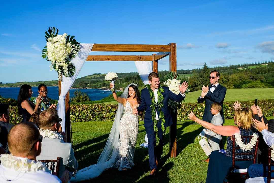 just married at ritz carlton kapalua