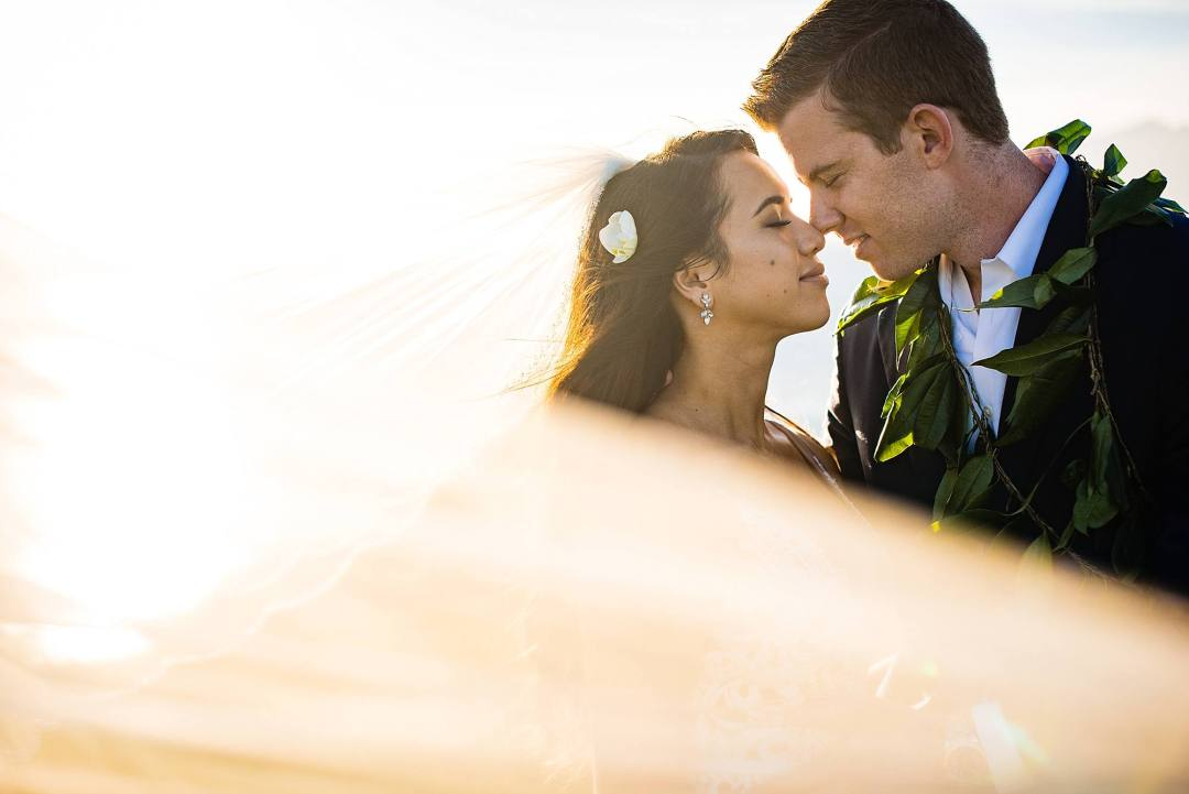 dreamy veil photo at ritz carlton kapalua