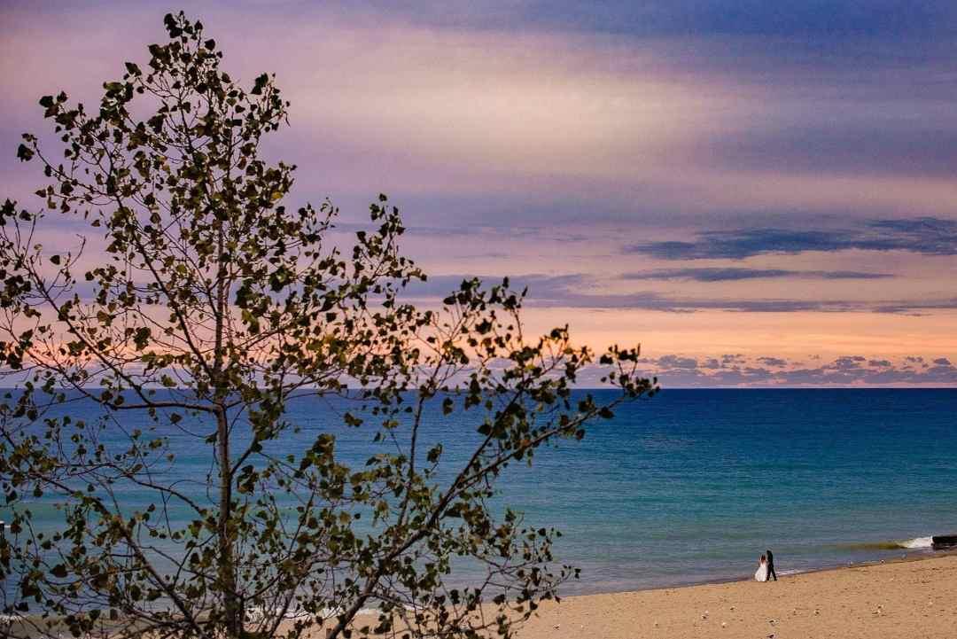 west michigan wedding phtoographer - sunset at warren dunes state park