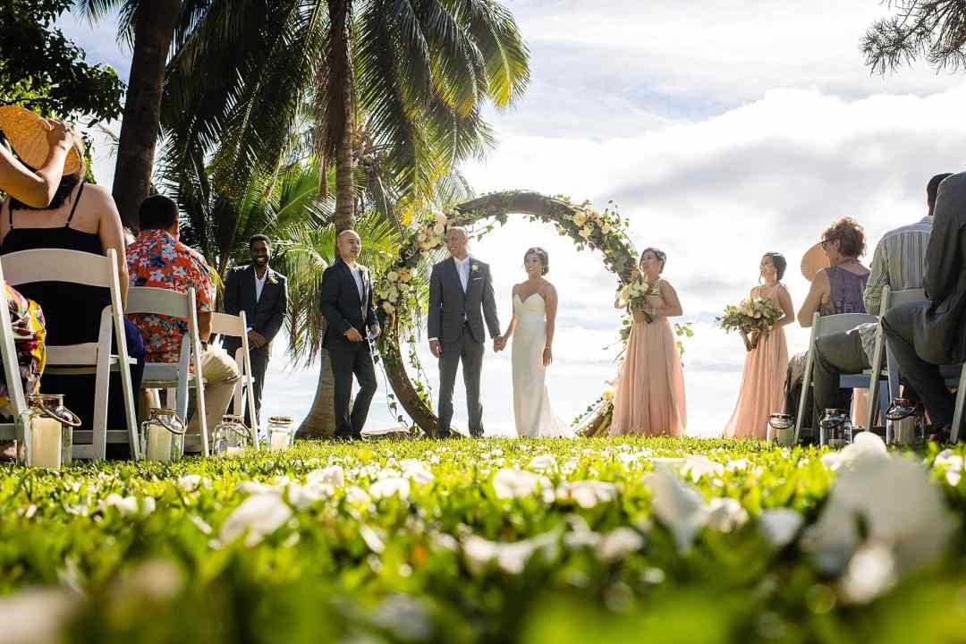 destination wedding at olowalu plantation house