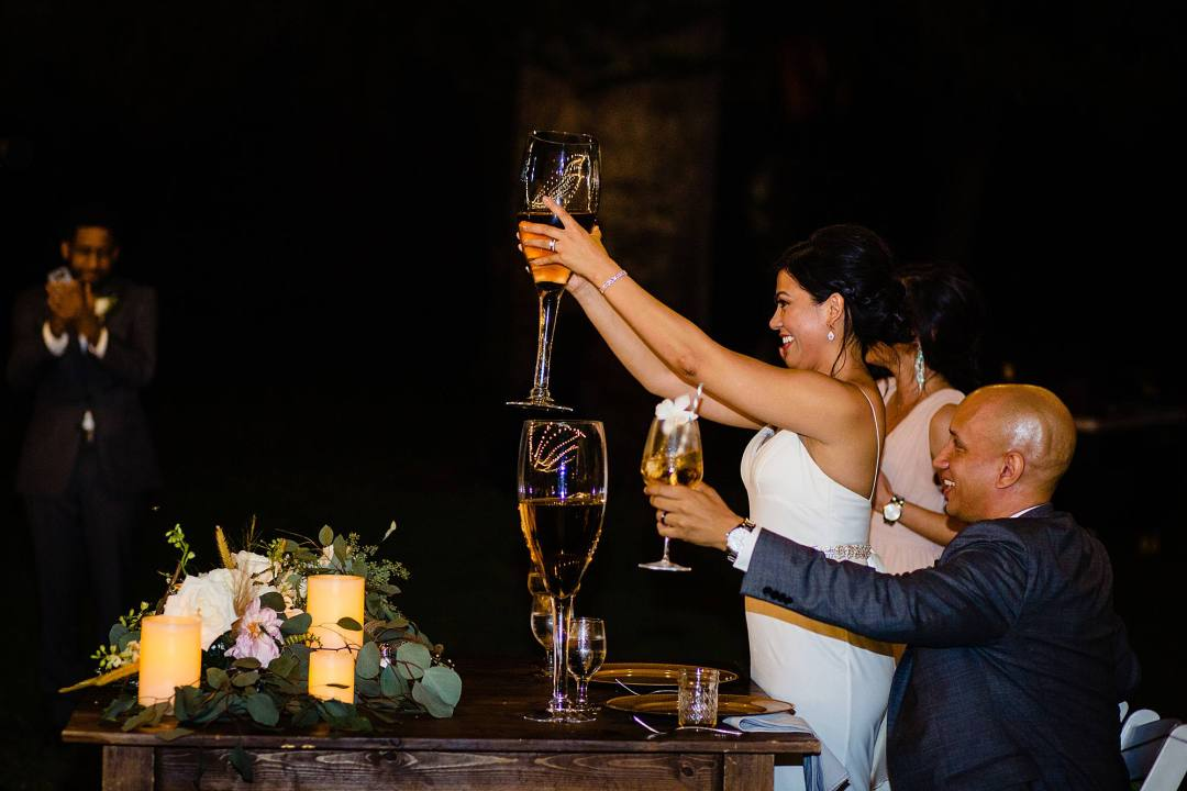 toasting with extra large wine glasses at olowalu plantation house